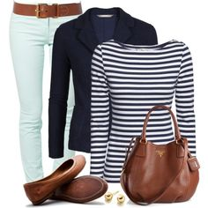 """Blazer, Skinny Jeans & Flats"" by wishlist123 on Polyvore Casual Wear, Casual Outfits, Cute Outfits, Fashion Outfits, Fashion Ideas, Fashion Moda, Womens Fashion, Spring Fashion, Autumn Fashion"