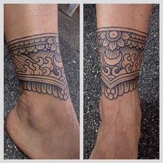 Mehendi Ankle Tattoo