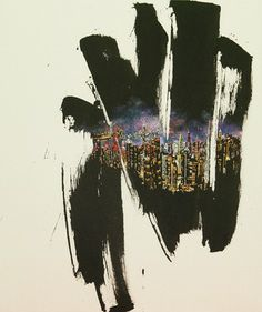 "Saatchi Online Artist JIEUN PARK; Painting, ""56. A little talk-hongkong(exhibition)"" #art"