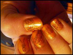 My nail Stamping art, Stamps: SA-18, SA-20, SA-11, Polish: SC Cloud 9 & CC Beyond