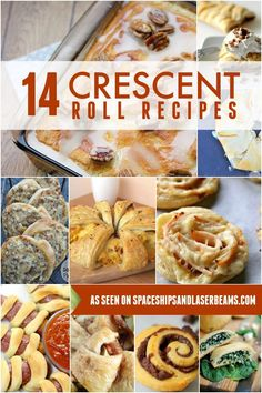 14 Crescent Roll Recipes - Spaceships and Laser Beams Crescent Dough Sheet Recipes, Pillsbury Crescent Roll Recipes, Recipes Using Crescent Rolls, Pillsbury Dough, Pillsbury Recipes, Crescent Roll Dough, Crescent Ring, Cresent Roll Appetizers, Crescent Bread