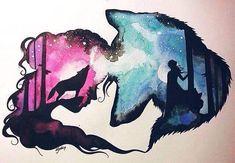 14117785 10154143746354475 8349602675910248769 n j Anime Wolf, Cute Animal Drawings, Cute Drawings, Wolf Drawings, Pretty Art, Cute Art, Wolf Artwork, Wolf Painting, Art Sketches