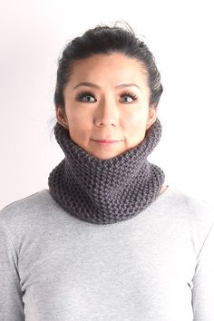 Neck warmer knitted neckwarmer knitted cow chunky knit by VONANA