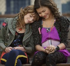 this is me and my bff we are like cec and rocky just like in shake it up