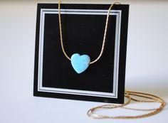 SALE Opal necklace. Heart necklace. Opal Heart. Blue by Sarradise