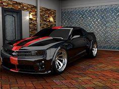 Sweet Black Camaro w/ red stripes Camaro Zl1, Chevrolet Camaro, Fancy Cars, Cool Cars, Black Camaro, Red Camaro, Sweet Cars, Motosport, Us Cars