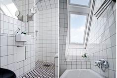 #White #tiles #bathroom. via Bolaget Fastighetsförmedling
