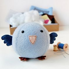 Make Your Own Bluebird Craft Kit  Sewing Kit by claraandmacy, £18.00