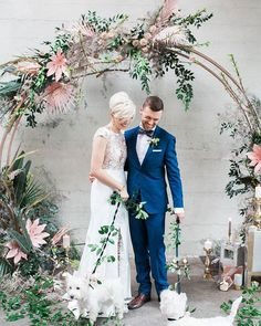 WEBSTA @ ruffledblog - So, so much love and gawk over this gorgeous modern tropical shoot! Head over to ruffledblog.com for the full feature | photo @katwillson video @thewhistlerweddingcollective planning @filosophi styling @boldeventcreative venue @settlementbuilding florals @celsiafloral cake @aelizabethcakes gowns @unionbridal groom's attire @haberdasherandco hair and makeup @deniseelliottbeautyco jewels @haileygerrits rings @cavaliergastown stationery @lelechan fibre art @saigeandskye…