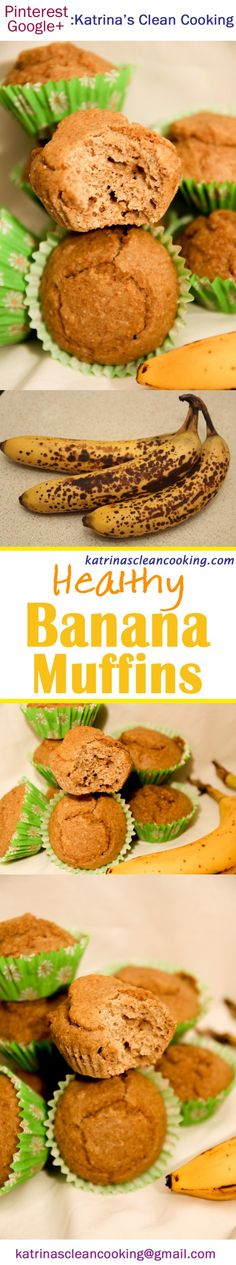 Whole-grain or gluten-free, dairy-free, low-sugar etc. Gluten Free Baking, Gluten Free Recipes, Healthy Recipes, Healthy Banana Muffins, Healthy Fiber, Dairy Free Alternatives, Exotic Food, Serving Size, Good Food