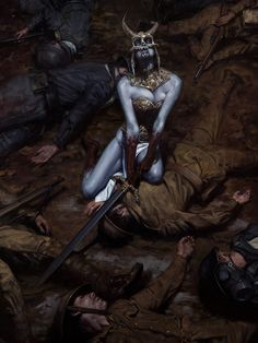 The Fallen, David Palumbo Fantasy Girl, Dark Fantasy, Character Portraits, Character Art, Character Design, Alien Painting, Concept Art World, Sword And Sorcery, Horror Art