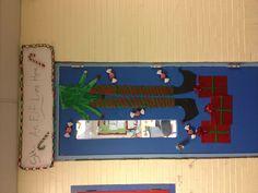 Classroom decorated door