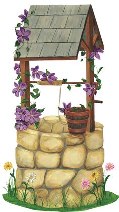 Wishing Well Clipart garden bench 1 - 236 X 386 for Android, Windows, Mac and Xbox Art Drawings For Kids, Colorful Drawings, Art Drawings Sketches, Cute Drawings, Art For Kids, Masha Et Mishka, Best Pencil, Pot Jardin, Iphone Background Images