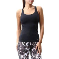 a776e1958d7c56 Amazon.com  Matymats Women s Yoga Tank Top Built in Shelf Bra Sleeveless  Running Workout T-Shirt Dry Fit  Sports   Outdoors