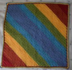 Crochet Patterns Galore - Diagonal Rainbows Baby Blanket