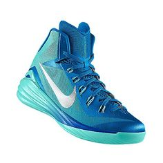 My Customized Nike Shoes. Blue and Green Nike Lunar HyperDunk 2014.