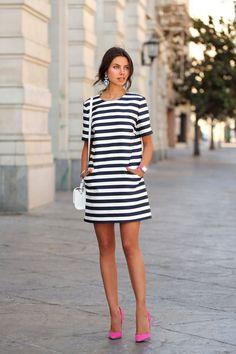 vestido-listrado-preto-branco-looks-street-style-2015-2016