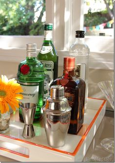 summertime cocktail bar.
