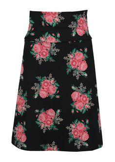 Tante Betsy skirt les fleurs black floral print rok zwart bloemenprint