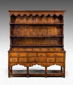 Antique Century Period Oak Dresser and Rack Welch Dresser, Oak Dresser, Kitchen Dresser, Wooden Furniture, Antique Furniture, Home Furniture, Antique Dressers, Colonial Furniture, Windsor House