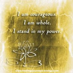 Solar Plexus Affirmation... your thoughts create your reality and by practicing your chakra balancing affirmations on a regular basis you will start seeing amazing results in your life.