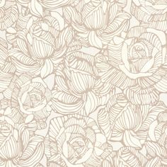 Sample Calista Beige Modern Rose Wallpaper design by Brewster Home Fashions
