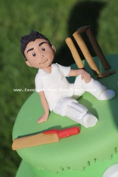 Little cricketer  - Cake by Zoe's Fancy Cakes