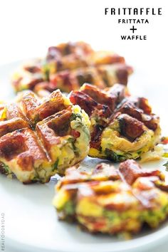 Frittata Waffle | 15 Amazing Food Hybrids You Need in Your Life | http://www.hercampus.com/health/food/15-amazing-food-hybrids-you-need-your-life