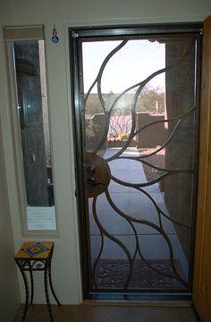 Screen Doors | Front screen door lock matches main door.