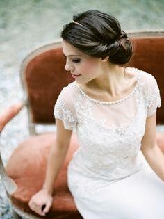 Love This Elegant Bridal Chignon!