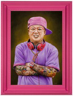 Scott Scheidly Creates Pink Portraits of Hypermasculine Men for a Solo Show at Hashimoto Contemporary Portraits, Portrait Art, Art Institute Of Pittsburgh, High Art, Portrait Illustration, Beautiful Mind, Pet Memorials, Heart Art, Magazine Art