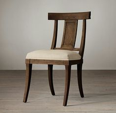 Kismos-RH Upholstered Side Chair, available in 4 finishes.