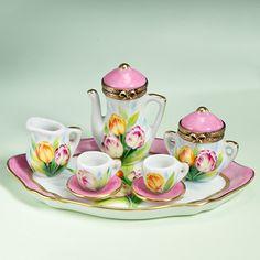 Limoges tulips tea service
