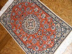 オレンジ色玄関マットのペルシャ絨毯58083