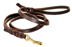 Dean and Tyler Nocturne Leash with Solid Brass Hardware, Brown, 4-Feet by 1/2-Inch ** Tried it! Love it! Click the image. : Dog leash