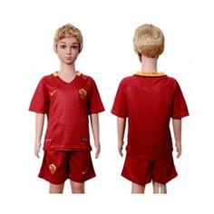 As Roma Fotbalové oblečení pro děti 16-17 Domácí dres komplet