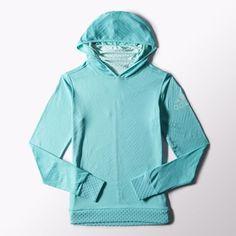 me encanto,  ademas esta super  calienta   adidas - Sudadera con capucha para Correr ClimaHeat Mujer