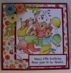 Art Impressions  Girlfriends birthday card.