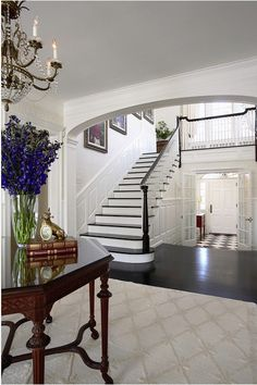 Love the stairs over the front door.