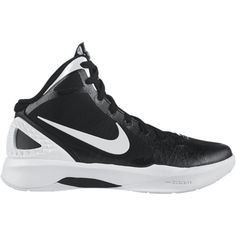 Nike Zoom Hyperdunk 2011 Team Women's Basketball Shoes - Black, 10 ($75) ❤ liked on Polyvore