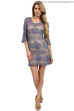 Crochetemoda: Vestido de Crochet Lilás