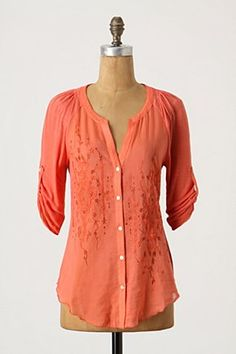 Coral embroidered gorgeousness - $88