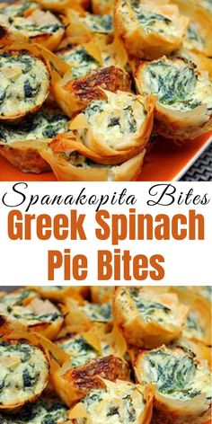 Spanakopita Bites are mini phyllo pastry shells filled with a delicious spinach and feta cheese filling. They are easy to prepare and can be a quick and easy alternative to rolling and wrapping individual phyllo. Phyllo Dough Recipes, Appetizer Recipes, Greek Appetizers, Phylo Pastry Recipes, Phyllo Appetizers, Spinach Appetizers, Individual Appetizers, Vegetarian Appetizers, Spanakopita Recipe