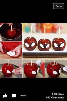 Cute Spider-Man apples