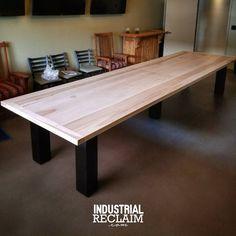 Installed a beautiful 14ft apostle table this morning! IndustrialReclaim.com #woodgrain #grain #table #large #industrialfurniture#modernfurniture #design #art #handmade #decor #vintage #vintageindustrial #industrial#artofchi #creative #steel #wood #woodworking #maple #industrialdesign #interiordesigner #interiordesign #modern #moderndesign #modernindustrial #chicago #Chicagoart #insta_chicago #chicagogram