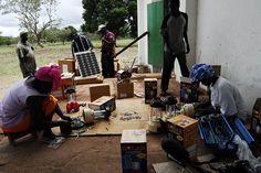 Village solar electrification.