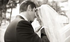Black and white bridal portrait by Heather Funk Photography