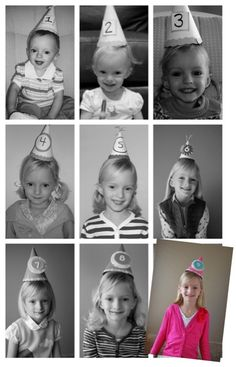 Wish I had done this each year for my kid's birthdays!