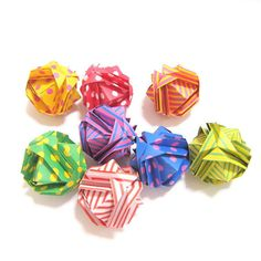 Origami kusudama ball Origami modular ball Origami by KaoriCraft