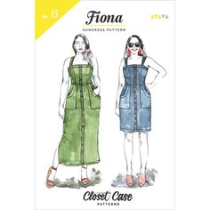 Fiona Sundress Sewing Pattern by Closet Case Patterns - Hawthorne Supply Co Sundress Pattern, Dress Sewing Patterns, Fabric Patterns, Tiger Crafts, Rachel Antonoff, Minerva Crafts, Dressmaking Fabric, Midi Length Skirts, How To Make Clothes